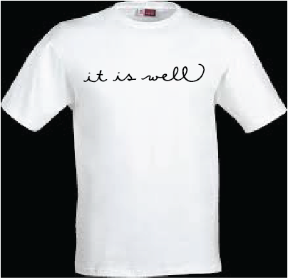 "Image of Northland Christian ""it is well""  T-shirt"