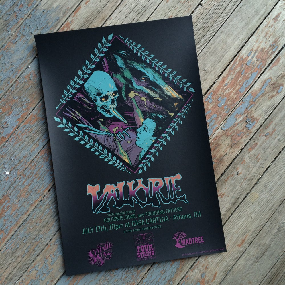 Image of VALKYRIE silk-screened poster