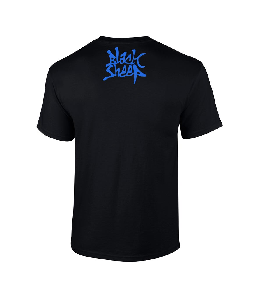 Image of 'COTL' T-SHIRT (BLACK/BLUE)