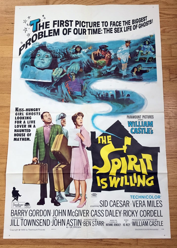 Image of 1967 THE SPIRIT IS WILLING Original U.S. One Sheet Movie Poster WILLIAM CASTLE