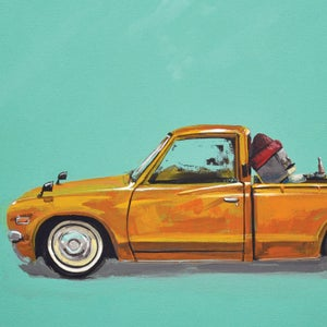 Datsun 620 - My favorite Bed - Matt Q. Spangler Illustration