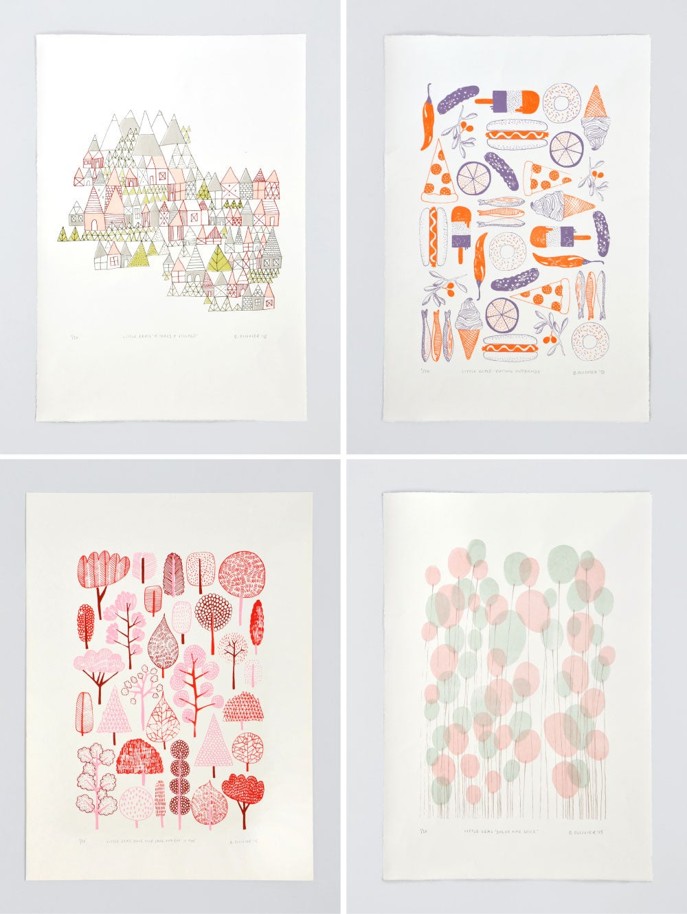 Image of Little Gems Limited Edition Screenprints