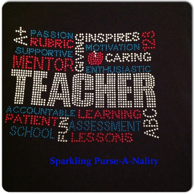 "Image of ""Sparkling"" Teacher- 4 Different Designs"