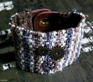 Image of That Time In The Bar, handwoven, handsewn cuff
