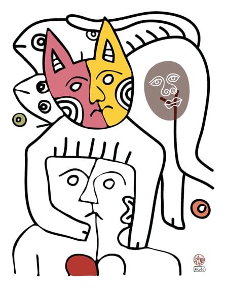 Image of CAT#4 (tee/undie/youth tee/toddler tee/baby onesie/tie/tote bag/apron/print/framed art)