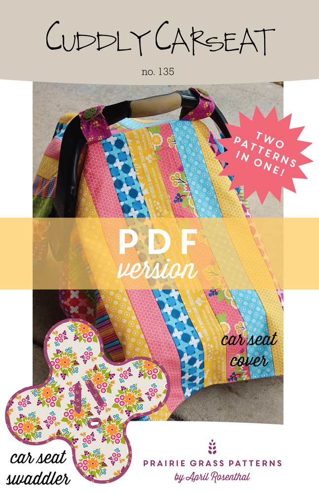 Image of Cuddly Car Seat: PDF Sewing Pattern #135
