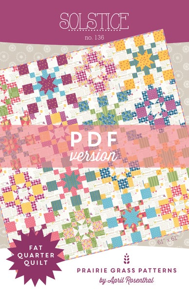 Image of Solstice: PDF Quilting Pattern #136