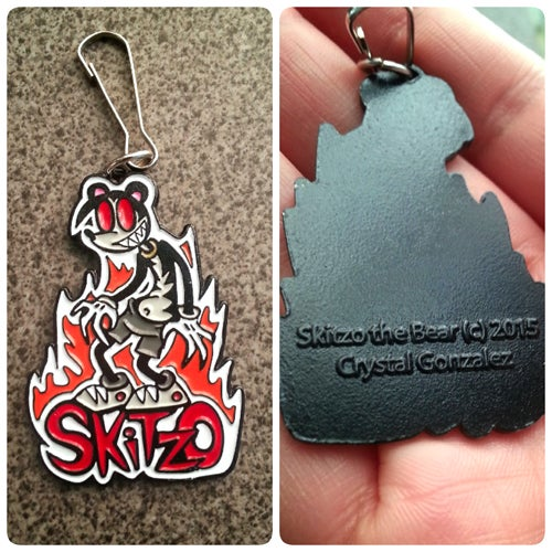 Skitzo The Bear Key Chain
