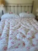 Gorgeous Demelza Pink Clusters Eiderdown