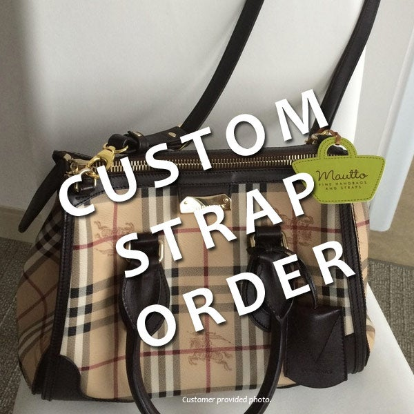 Image Of Custom Replacement Straps Handles For Burberry Handbags Purses Bags