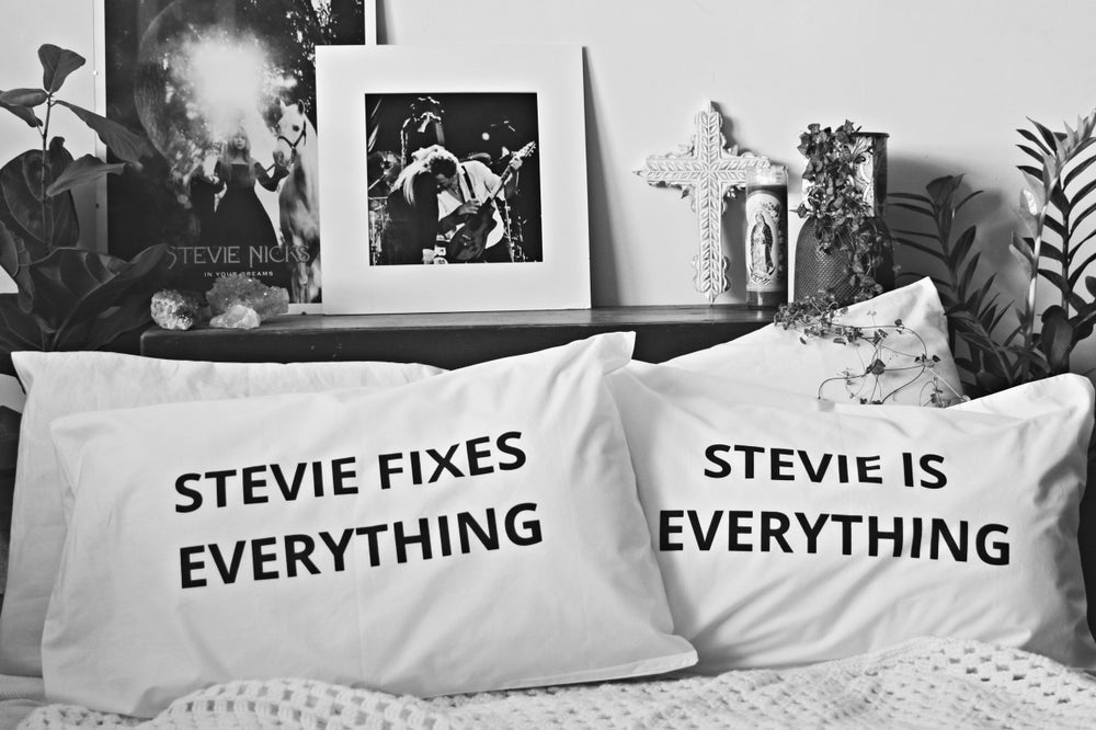 Image of Stevie Nicks pillow case pair