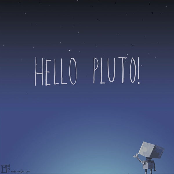 Hello Pluto! Print - Matt Q. Spangler Illustration