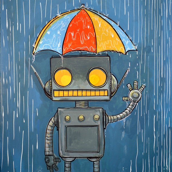 In The Rain and Feeling Fine Print - Matt Q. Spangler Illustration