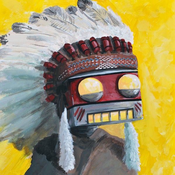 The Big Chief Painting - Matt Q. Spangler Illustration