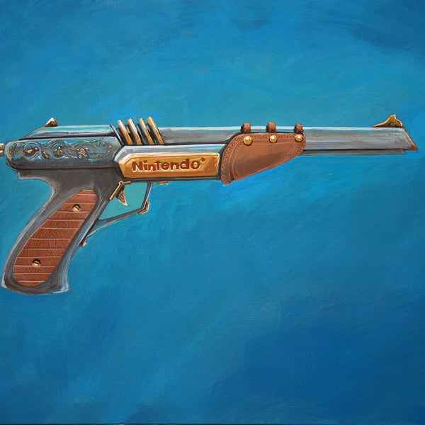 The Zapper painting - Matt Q. Spangler Illustration