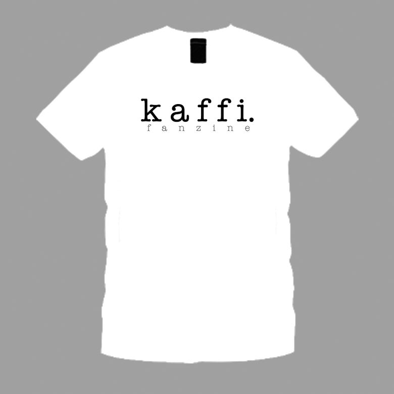Image of kaffi fanzine t-shirt (White)