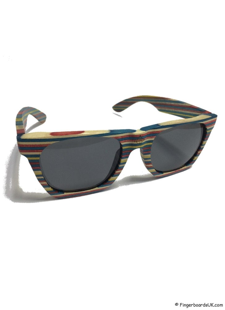 Image of FBUK Skateboard Deck Wooden Rainbow Sunglasses