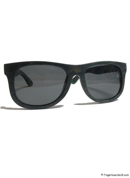 Image of FBUK Skateboard Deck Wooden Black Sunglasses