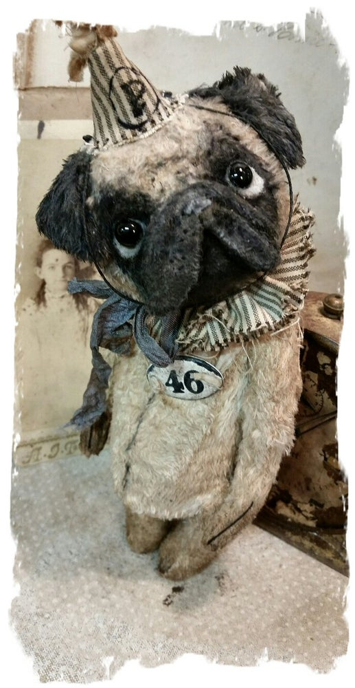 "Image of Pug - Dog - 7"" size * By Whendi's Bears"