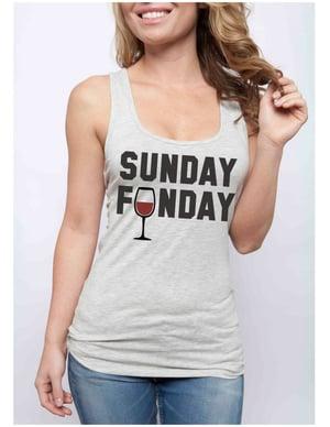 Image of SUNDAY FUNDAY Mimosa & Wine racerbacks