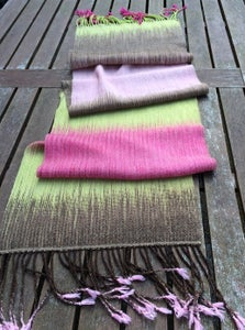 Image of Handwoven Scarf or Stole, Colour Control, 100% wool