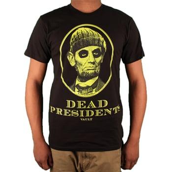 Image of Dead Presidents Tee (Black/Neon)