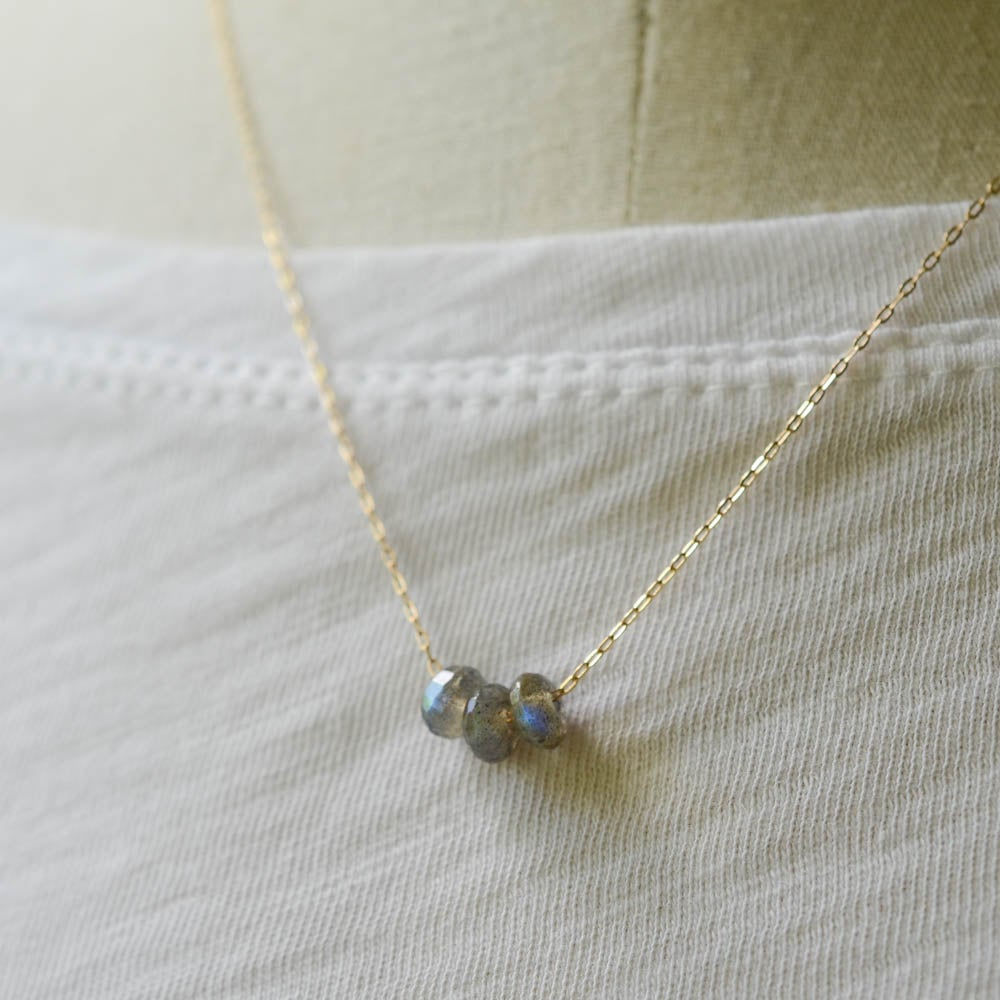 Image of Labradorite Trio Necklace