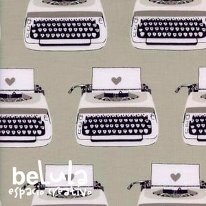Image of Tela algodón patchwork: Máquinas de escribir B&W Cotton and Steel