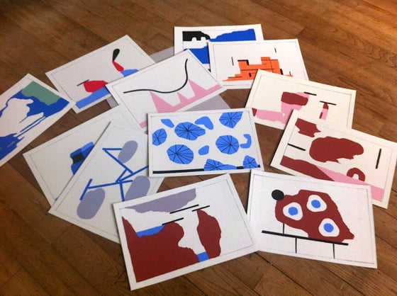 Image of 12 Paper Paintings