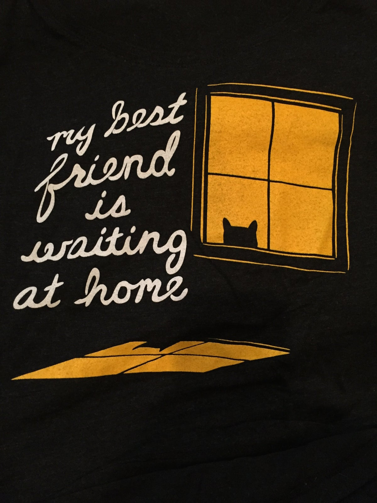 Image of My Best Friend Is Waiting At Home (cat) - Women's Tee