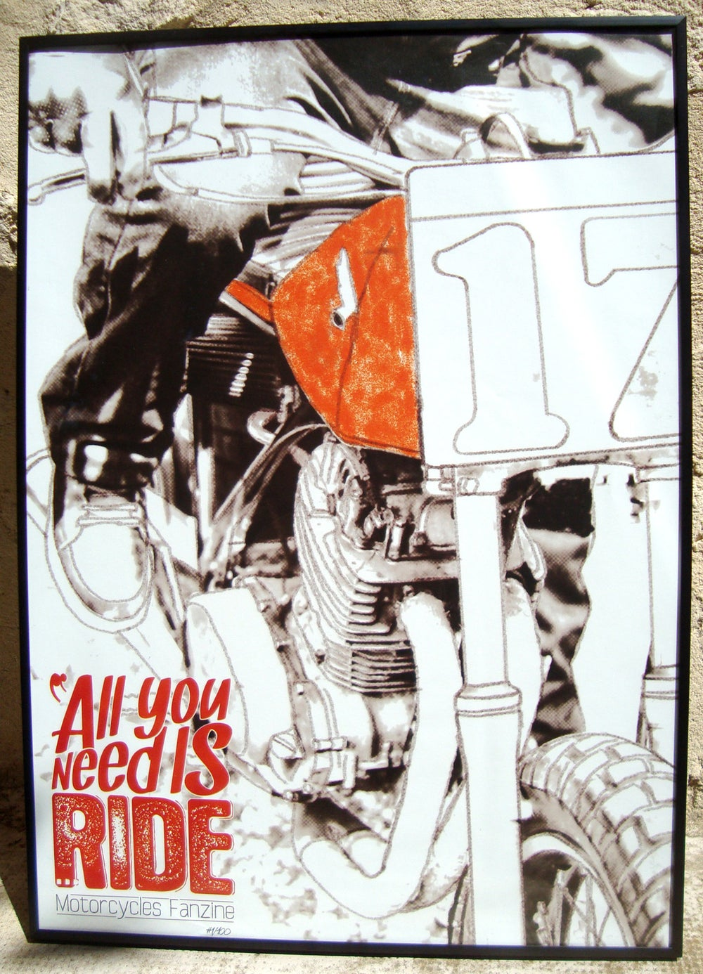 "Image of Poster ""All You Need Is Ride... 2 years"""
