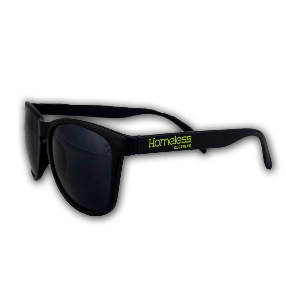 Image of Homeless Clothing Sunglasses in Lime Green/Matte Black