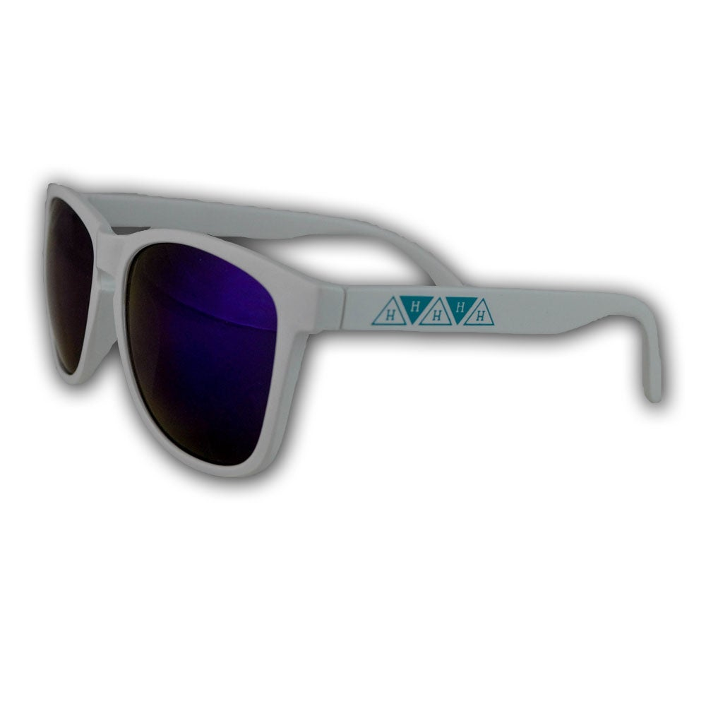 Image of Flip Flop Logo Strip Sunglasses in Light Blue/Matte White