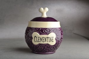 Image of Dog Treat Jar Made To Order Curls Treat Jar By Symmetrical Pottery