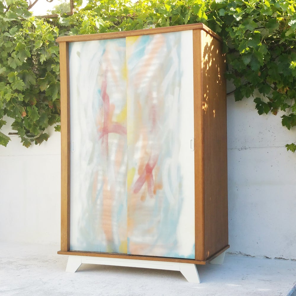 """Image of Armoire penderie """"Impression """" - Vintage"""
