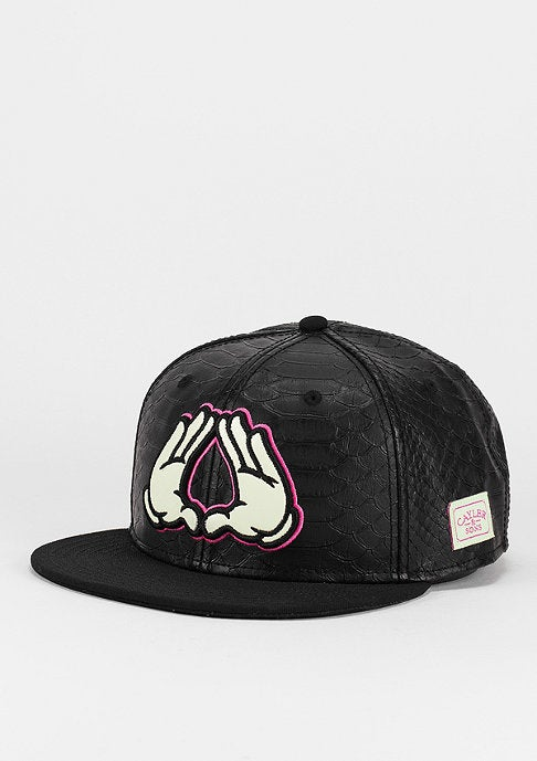 Image of Cayler & Sons Dynastus Cap In Black & Pink