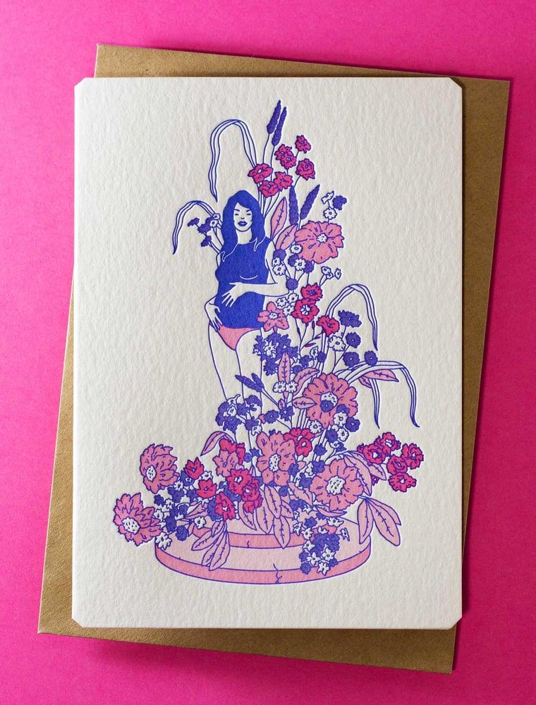 Image of 'Wander' Letterpress Card