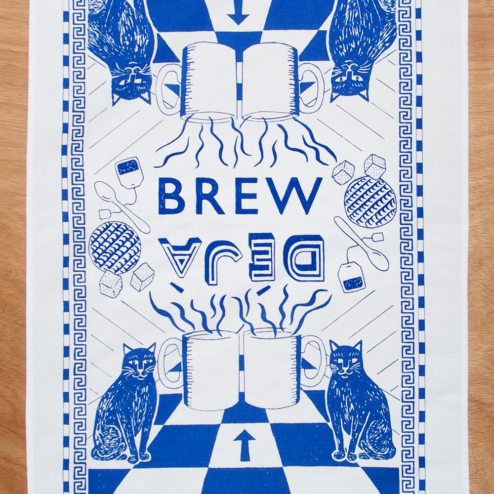 Image of Deja Brew Tea towel