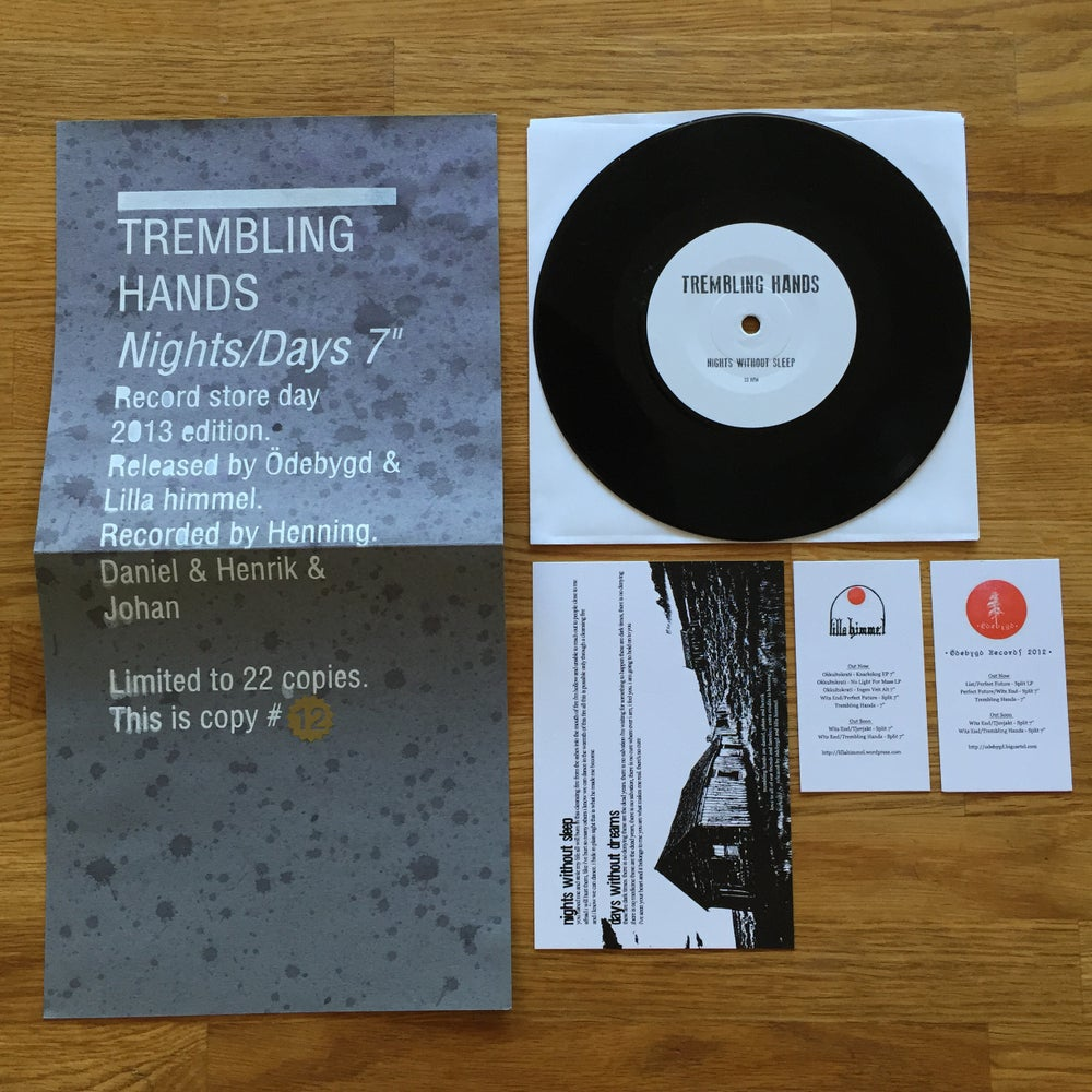"Image of Trembling Hands - Nights/Days 7"" (RSD version)"