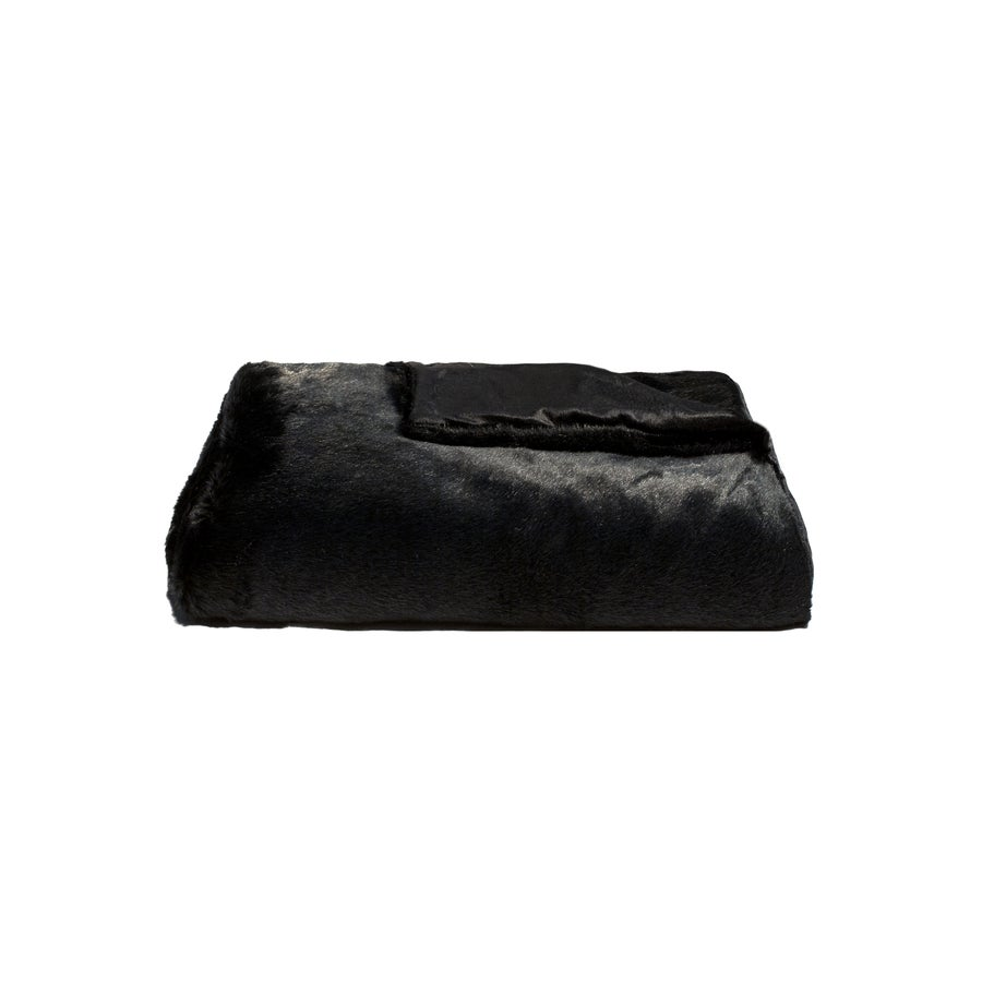 Image of Omaha Black Mink Throw