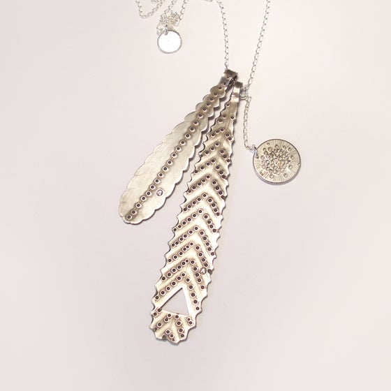 Image of LEAF NECKLACE: LEAF LITTER (STERLING SILVER, HAND CUT)