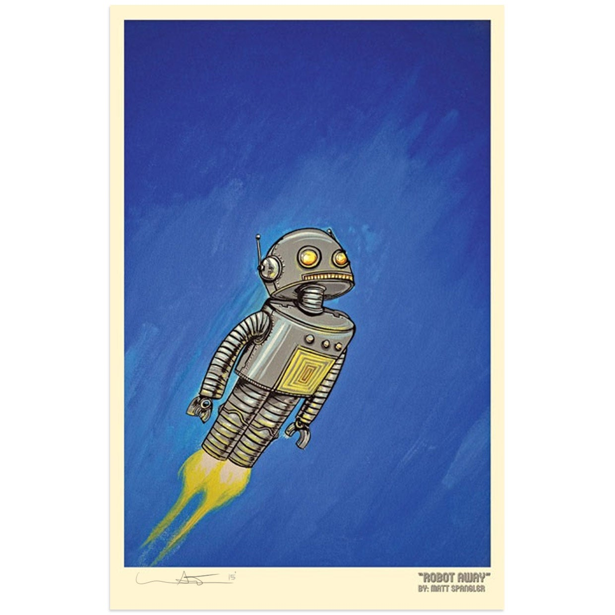 Image of Robot Away! Print
