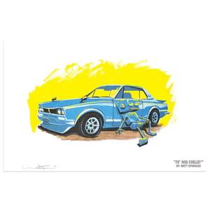 72' and Chillin' Print - Matt Q. Spangler Illustration