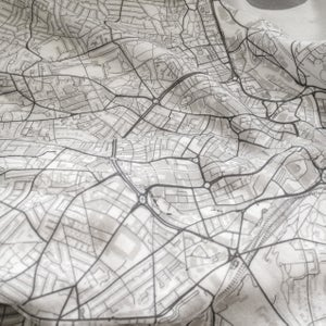 Image of Birmingham map t-shirt