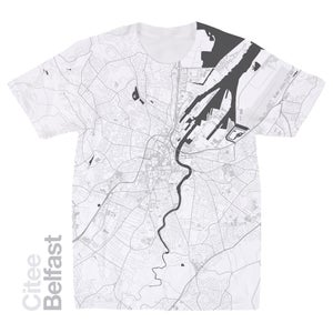 Image of Belfast map t-shirt