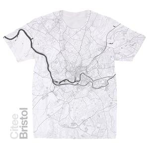 Image of Bristol map t-shirt