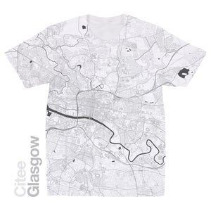 Image of Glasgow map t-shirt