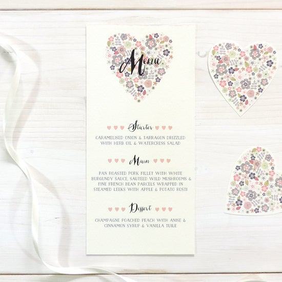 Image of Love Heart Menu