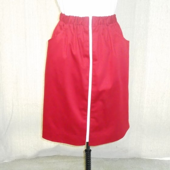Image of Red Sit 'n' Zip Skirt