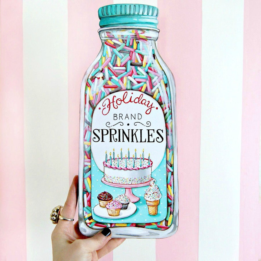"Image of Jumbo ""Bottle of Sprinkles"" plaque"